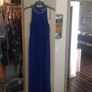 Jennifer lopez Royal Blue long dress